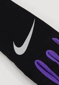 Nike Performance - LIGHTWEIGHT TECH GLOVES - Rękawiczki pięciopalcowe - black/psychic purple/silver - 4