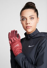 Nike Performance - WOMENS QUILTED RUN GLOVES  - Guantes - cedar/silver - 0
