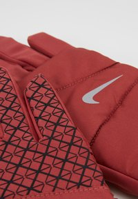 Nike Performance - WOMENS QUILTED RUN GLOVES  - Guantes - cedar/silver - 5