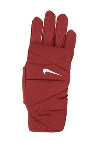 Nike Performance - WOMENS QUILTED RUN GLOVES  - Guantes - cedar/silver - 4
