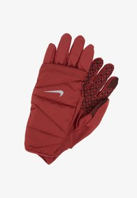 Nike Performance - WOMENS QUILTED RUN GLOVES  - Guantes - cedar/silver - 2