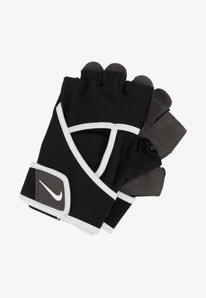 GYM PREMIUM FITNESS GLOVES - Fingerless gloves - black/white