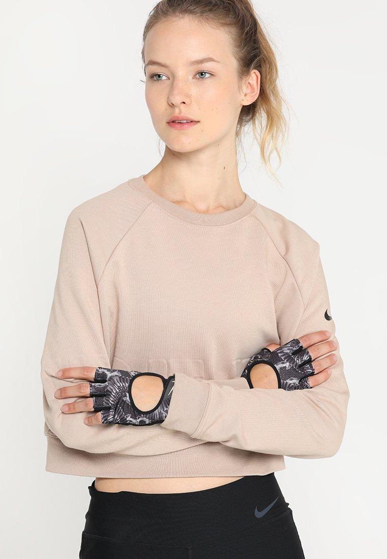 Nike Performance - GYM ULTIMATE GLOVES - Fingerless gloves - black/anthracite/storm pink