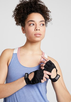 GYM ULTIMATE GLOVES - Fingerless gloves - black/white