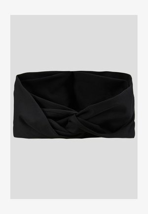 TWIST KNOT HEADBAND - Cache-oreilles - black/white