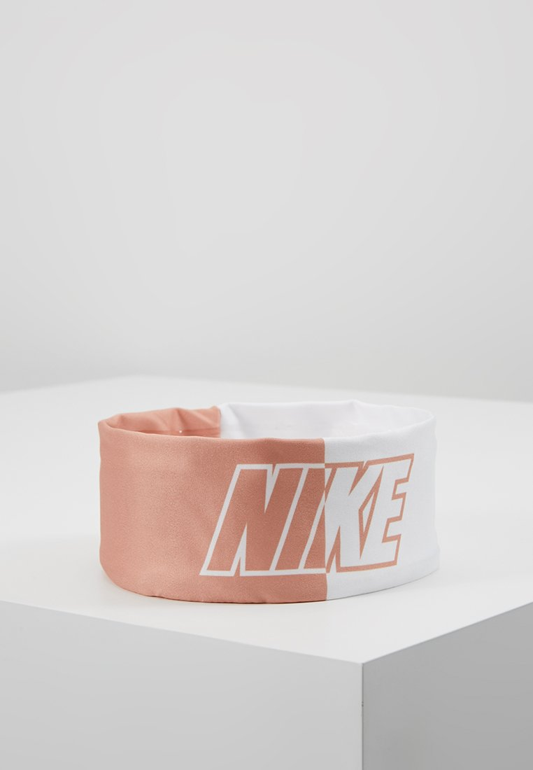 Nike Performance - COLOR BLOCK FURY HEADBAND - Ørevarmere - rose gold/white