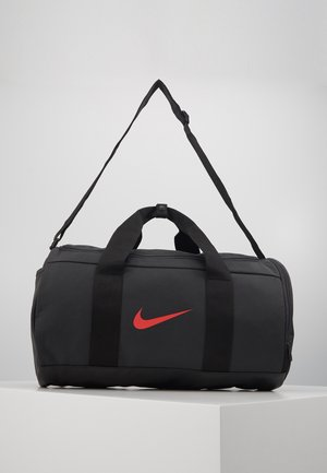 TEAM DUFFLE - Sporttasche - dark smoke grey/black/track red