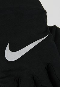Nike Performance - NIKE WOMENS DRY RUNNING GLOVES - Guantes - black/silver - 4