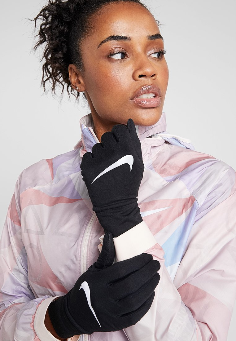 Nike Performance - NIKE WOMENS DRY RUNNING GLOVES - Guantes - black/silver