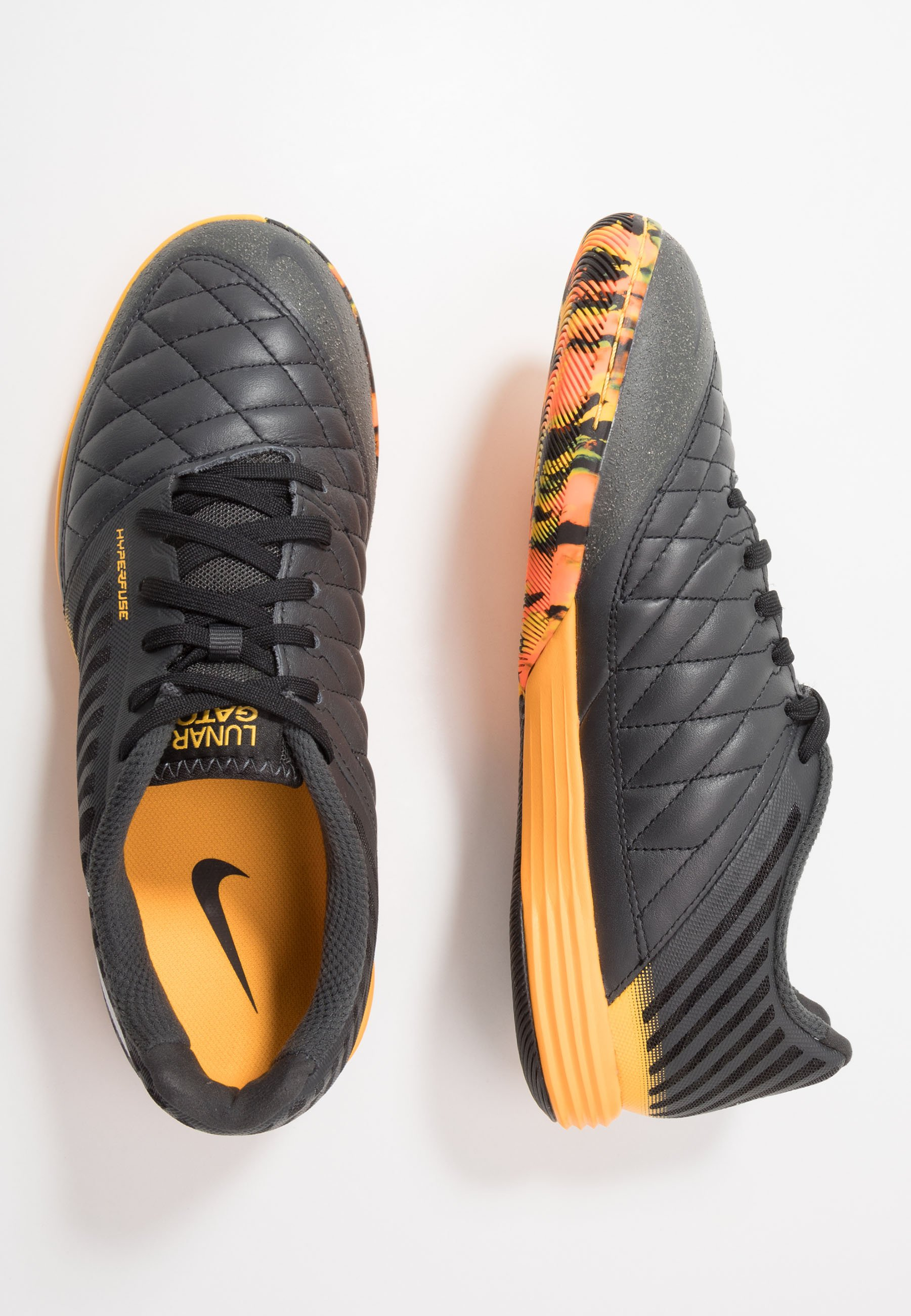 Nike Performance LUNARGATO II - Halówki - dark smoke grey/white/laser orange/black