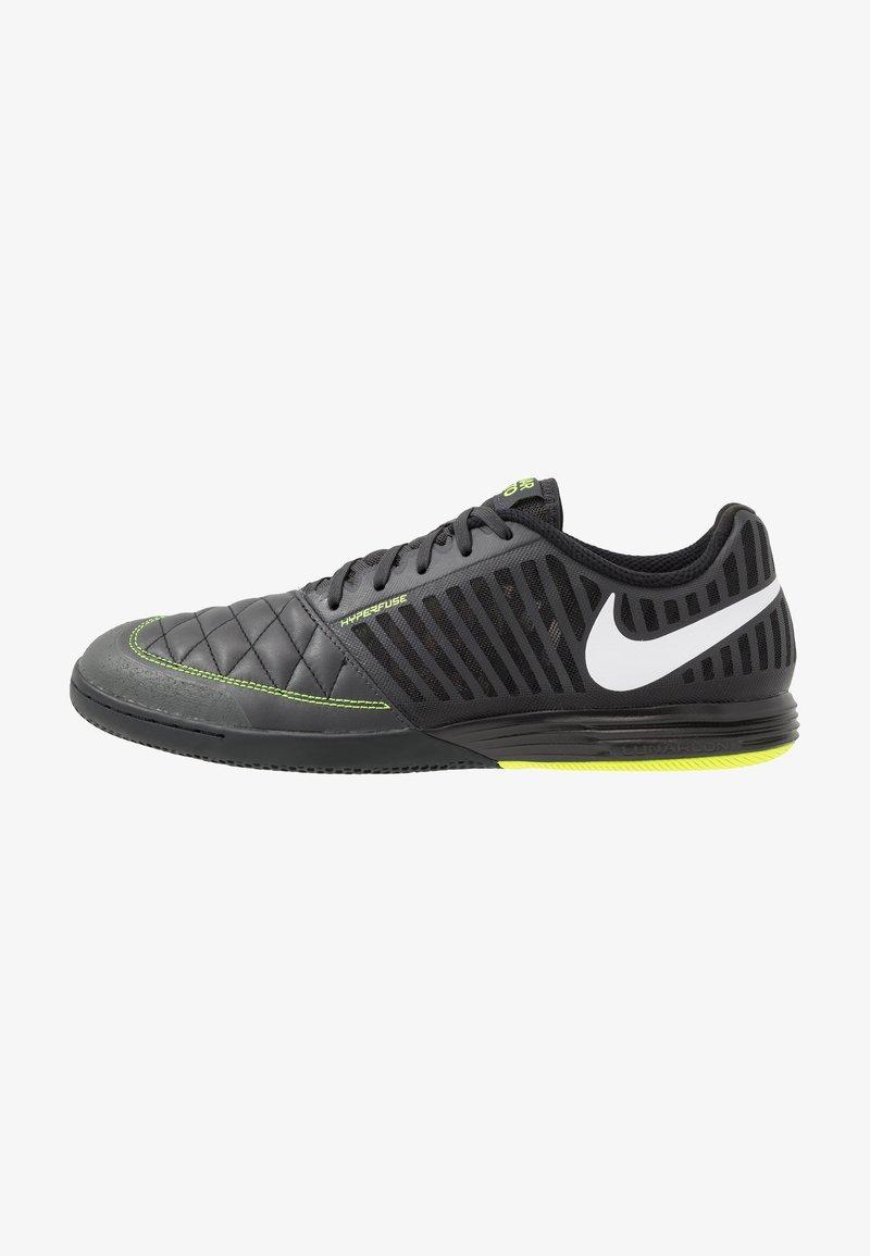 Nike Performance - LUNARGATO II - Zaalvoetbalschoenen - dark smoke grey/white/black/volt
