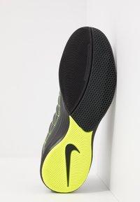 Nike Performance - LUNARGATO II - Zaalvoetbalschoenen - dark smoke grey/white/black/volt - 4