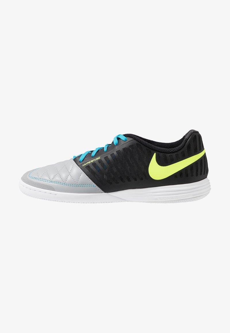 Nike Performance - LUNARGATO II - Fußballschuh Halle - black/volt/wolf grey/light current blue
