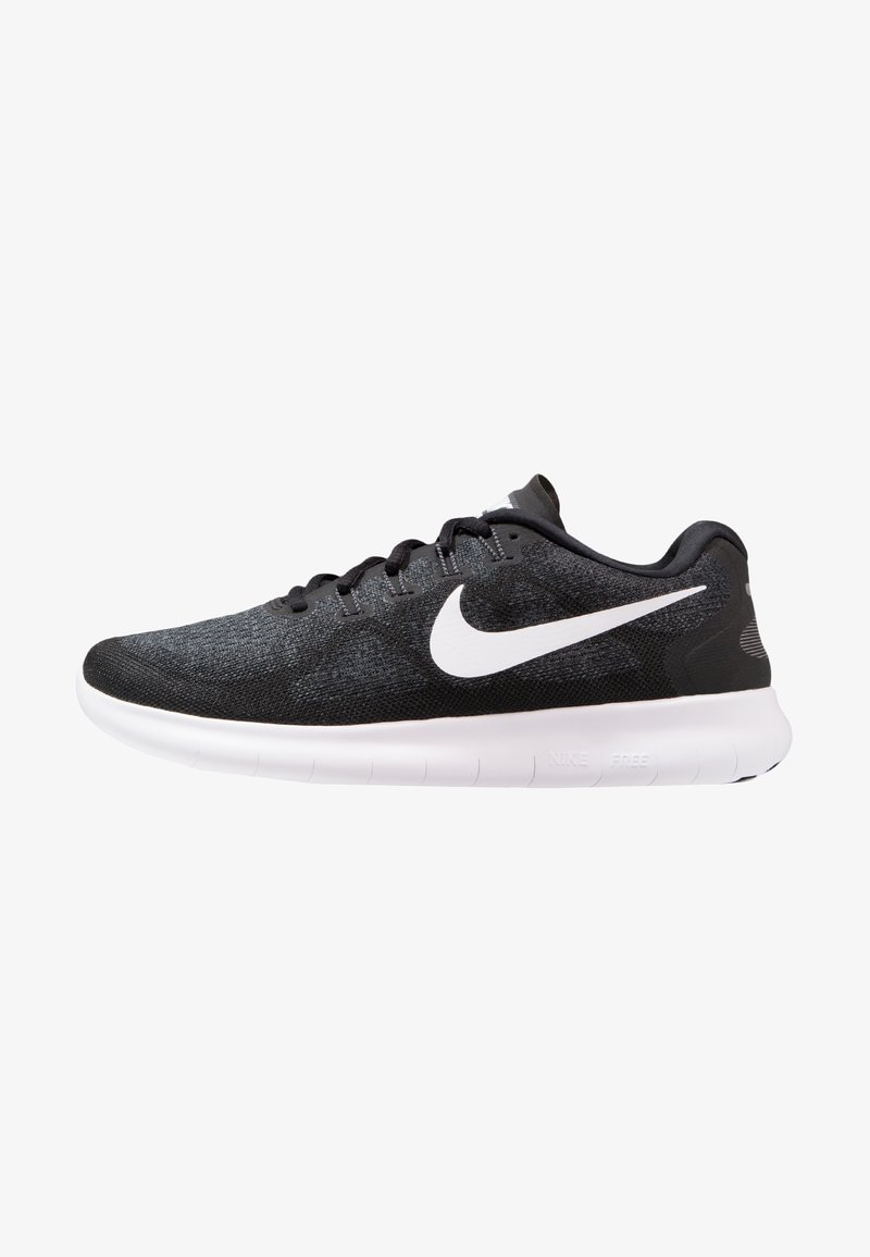 Nike Performance - FREE RUN 2 - Minimalist running shoes - black/white/dark grey/anthracite