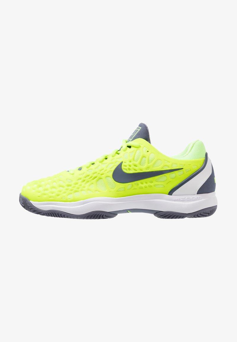 Nike Performance - AIR ZOOM CAGE  - da tennis per terra battuta - volt glow/light carbon/white