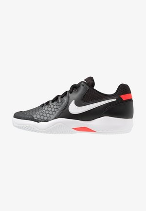 AIR ZOOM RESISTANCE - Clay court tennis shoes - black/white/bright crimson