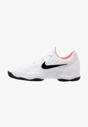 AIR ZOOM CAGE - Chaussures de tennis pour terre-battueerre battue - white/black/bright crimson