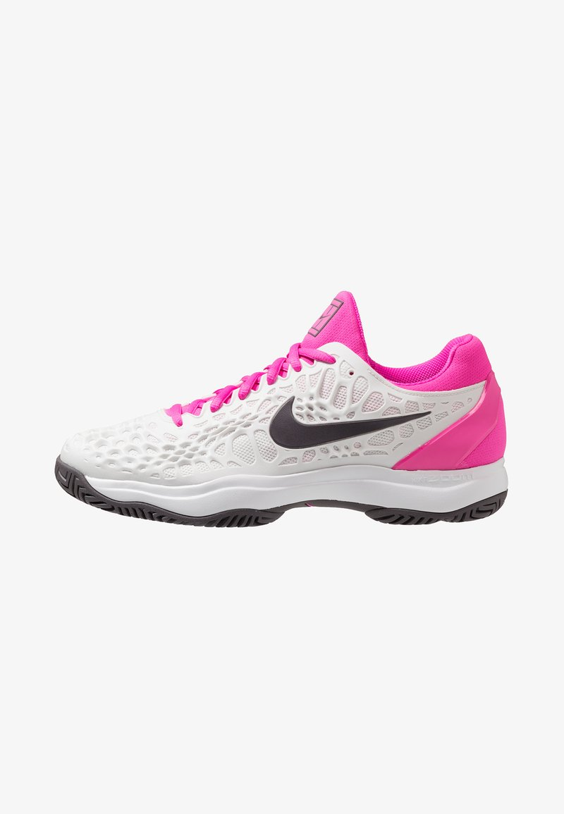 Nike Performance - AIR ZOOM CAGE 3 HC - Tennisschuh für Sandplätze - platinum tint/thunder grey/laser fuchsia