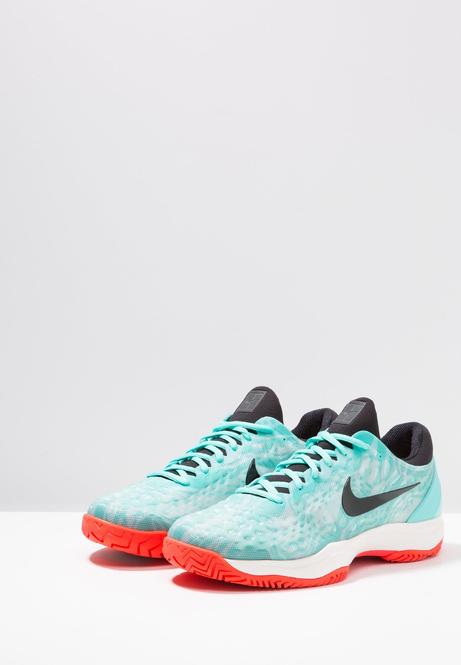 AIR ZOOM CAGE Chaussures de tennis pour terre battueerre battue aurora greenblackteal tintphantombright crimson