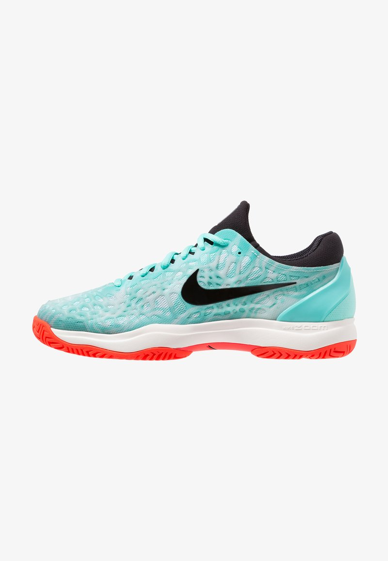 Nike Performance - AIR ZOOM CAGE 3 HC - Tennisschuh für Sandplätze - aurora green/black/teal tint/phantom/bright crimson