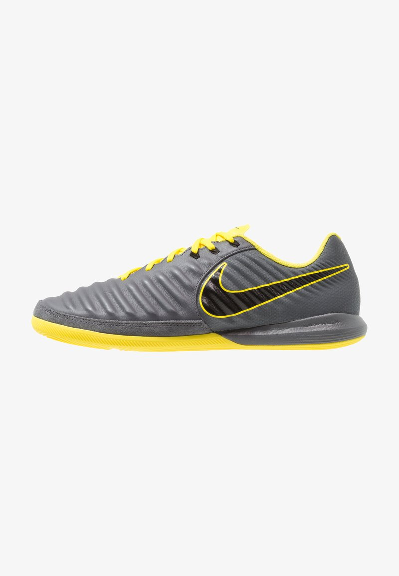Nike Performance - TIEMPO LUNAR LEGENDX 7 PRO IC - Indoor football boots - dark grey/black/optic yellow