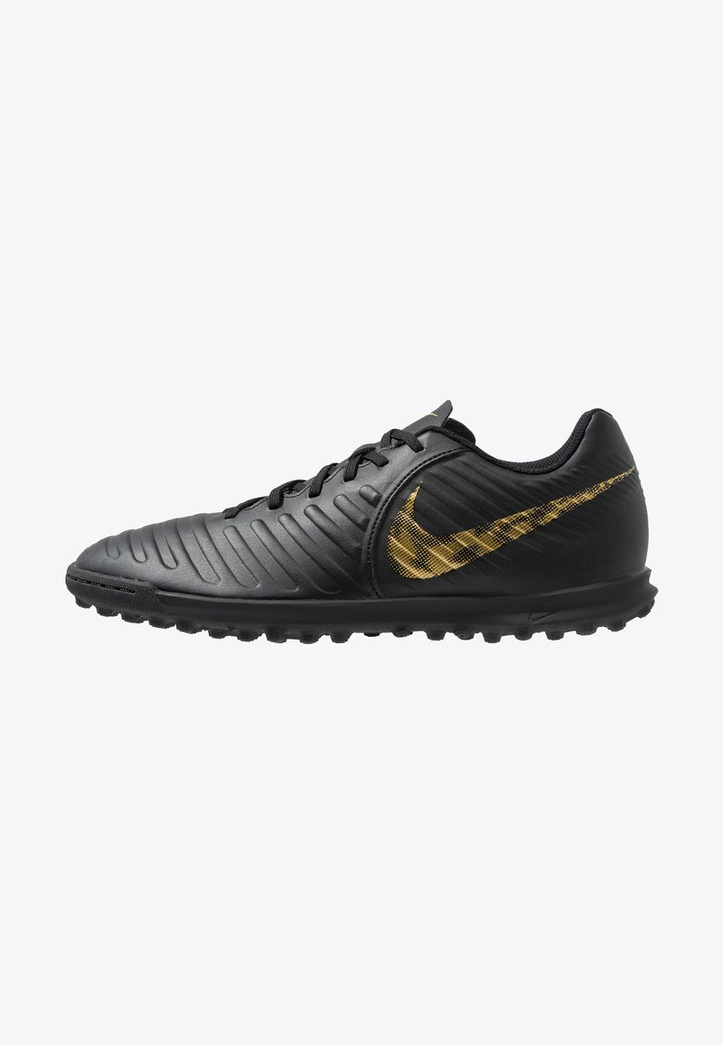 Nike Performance - TIEMPO LEGENDX 7 CLUB TF - Astro turf trainers - black/metalic vivid gold