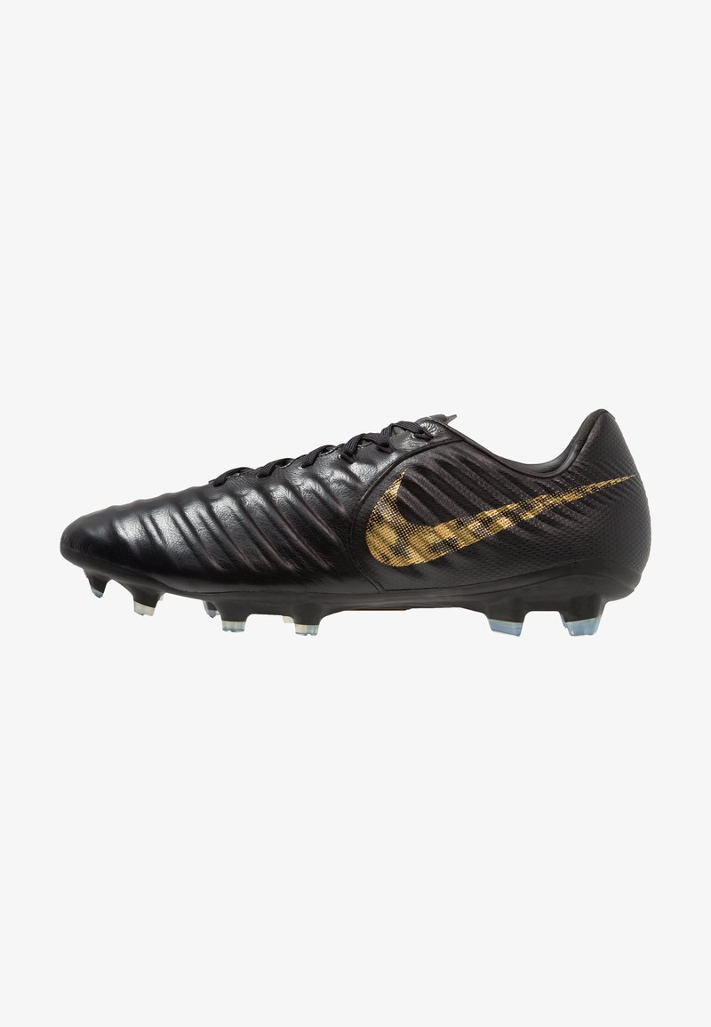 Nike Performance - TIEMPO LEGEND 7 PRO FG - Moulded stud football boots - black/metallic vivid gold