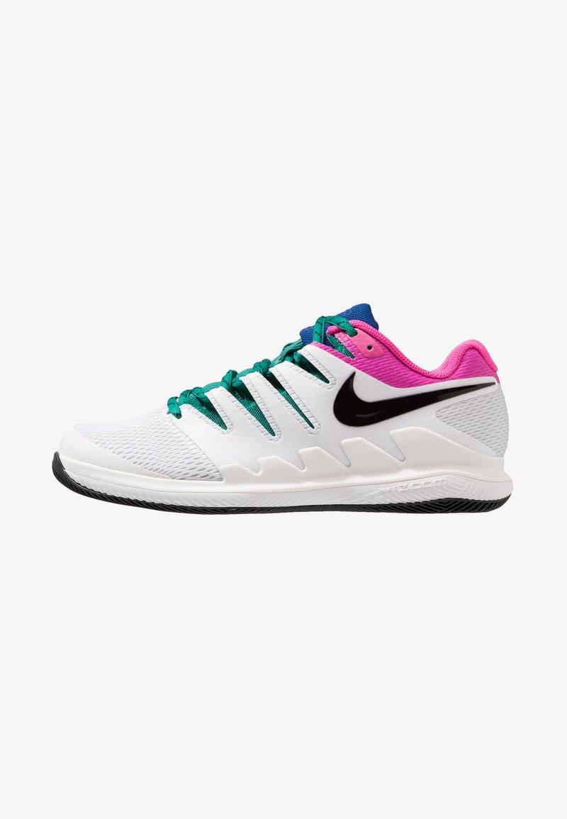 Nike Performance - AIR ZOOM VAPOR X - Multicourt tennis shoes - white/black/platinum tint/laser fuchsia/indigo force