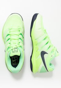 Nike Performance - AIR ZOOM VAPOR X - Buty tenisowe uniwersalne - ghost green/blackened blue/barely volt - 1