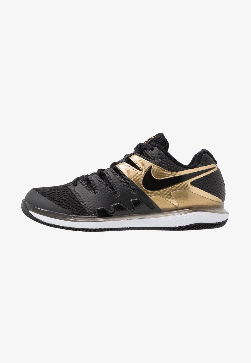 Nike Performance - AIR ZOOM VAPOR X - All court tennisskor - black/metallic gold/white