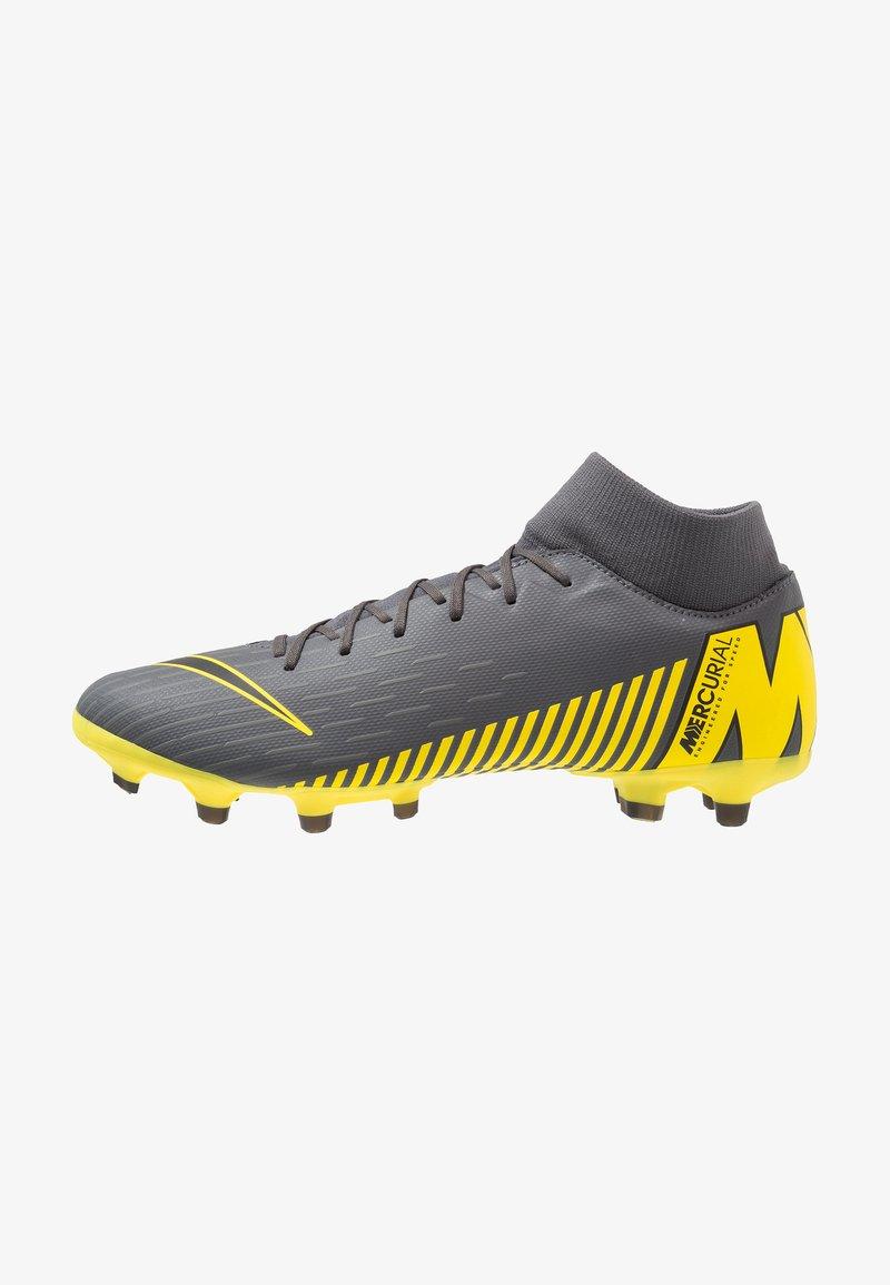 Nike Performance - MERCURIAL 6 ACADEMY MG - Moulded stud football boots - dark grey/black/opti yellow
