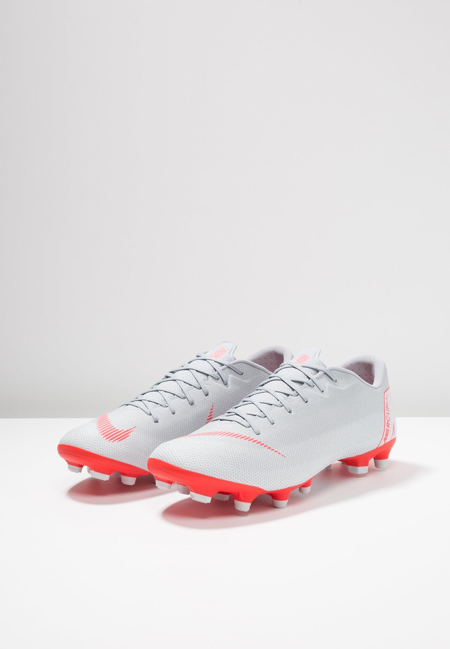 Nike Performance MERCURIAL VAPOR 12 ACADEMY MG - Chaussures de foot à crampons wolf grey/bright crimson/pure platinum/metallic silver