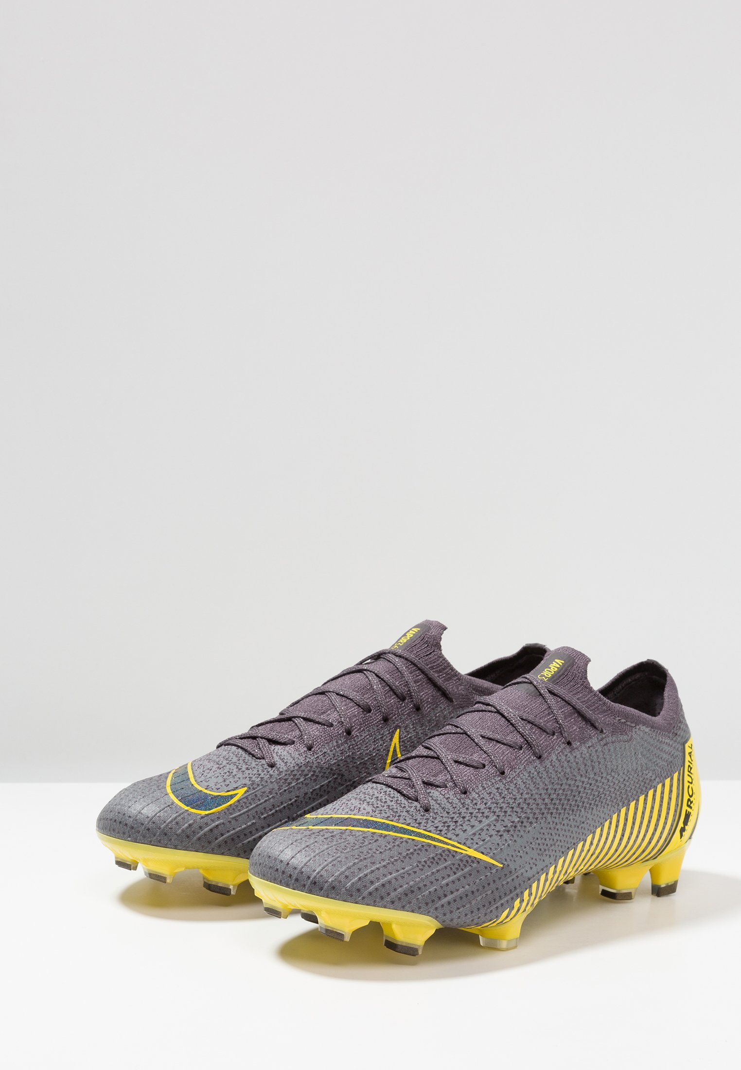 Nike Performance MERCURIAL VAPOR ELITE FG - Fußballschuh Nocken - thunder grey/black/dark grey/opti yellow