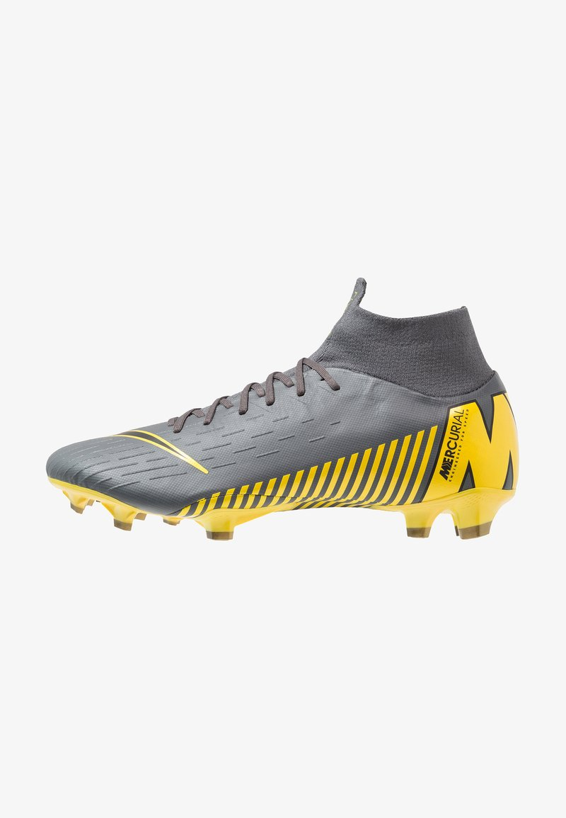 Nike Performance - MERCURIAL 6 PRO FG - Moulded stud football boots - dark grey/black/opti yellow