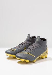 Nike Performance - MERCURIAL 6 PRO FG - Chaussures de foot à crampons - dark grey/black/opti yellow - 2