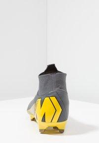 Nike Performance - MERCURIAL 6 PRO FG - Chaussures de foot à crampons - dark grey/black/opti yellow - 3