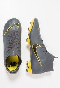 Nike Performance - MERCURIAL 6 PRO FG - Chaussures de foot à crampons - dark grey/black/opti yellow - 1