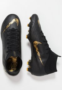 Nike Performance - MERCURIAL 6 PRO FG - Kopačky lisovky - black/metallic vivid gold - 1