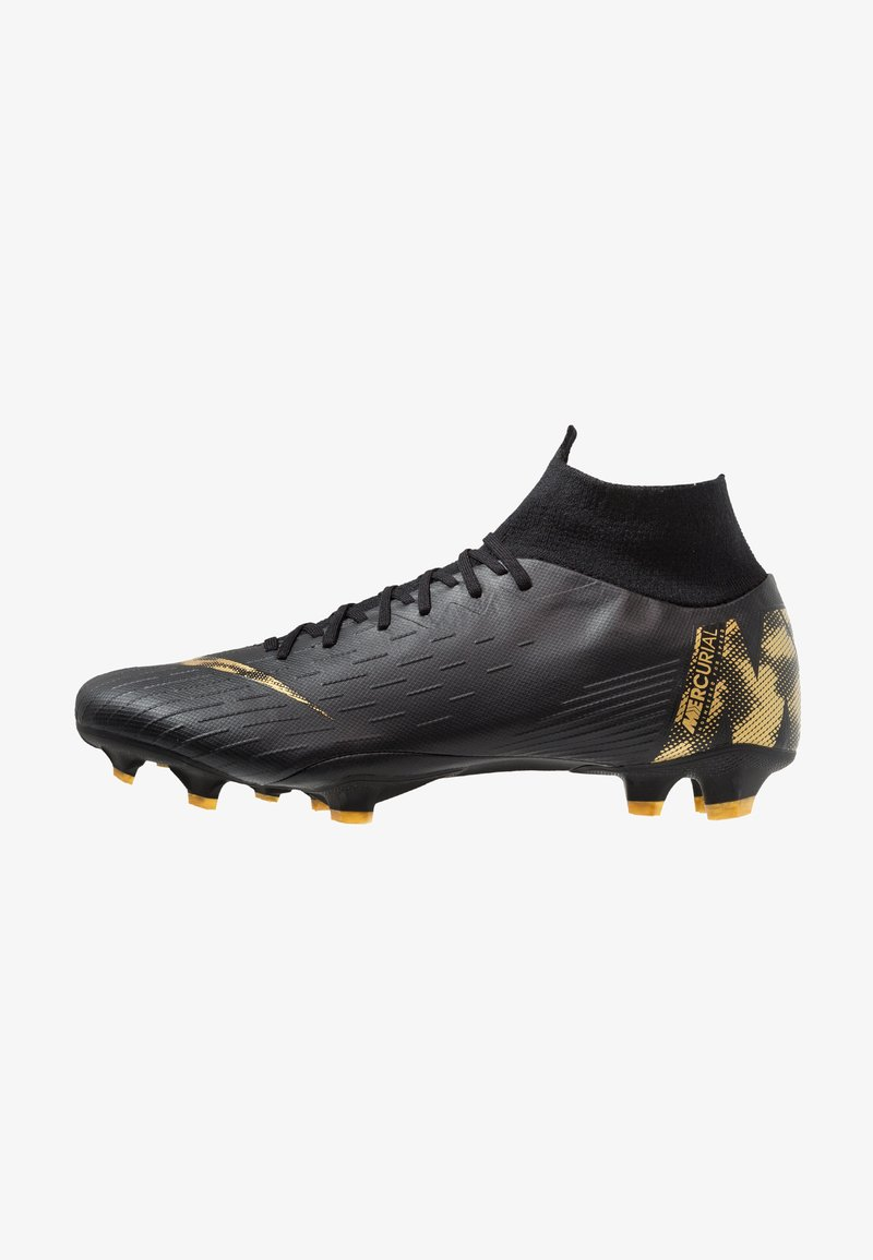 Nike Performance - MERCURIAL 6 PRO FG - Moulded stud football boots - black/metallic vivid gold