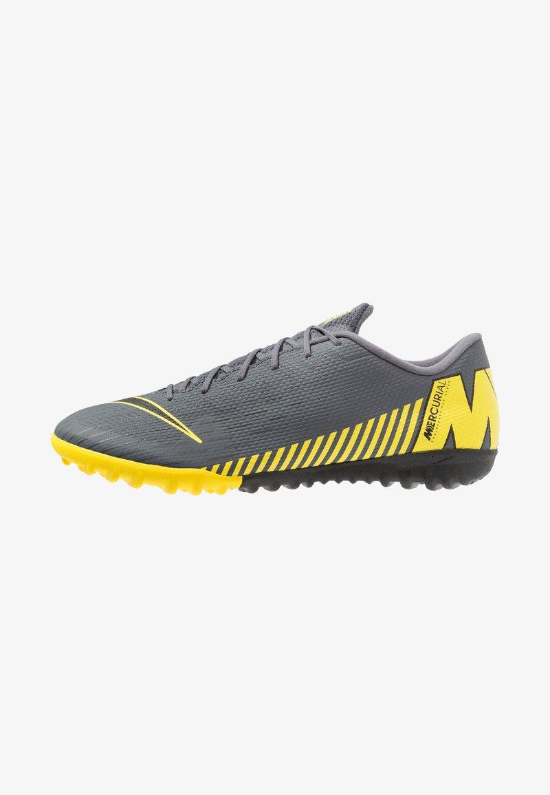 Nike Performance - MERCURIAL VAPORX 12 ACADEMY TF - Astro turf trainers - dark grey/black/opti yellow
