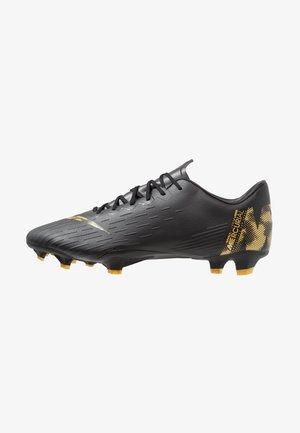 MERCURIAL VAPOR 12 PRO FG - Chaussures de foot à crampons - black/metalic vivid gold