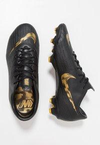 Nike Performance - MERCURIAL VAPOR 12 PRO FG - Voetbalschoenen met kunststof noppen - black/metalic vivid gold - 1