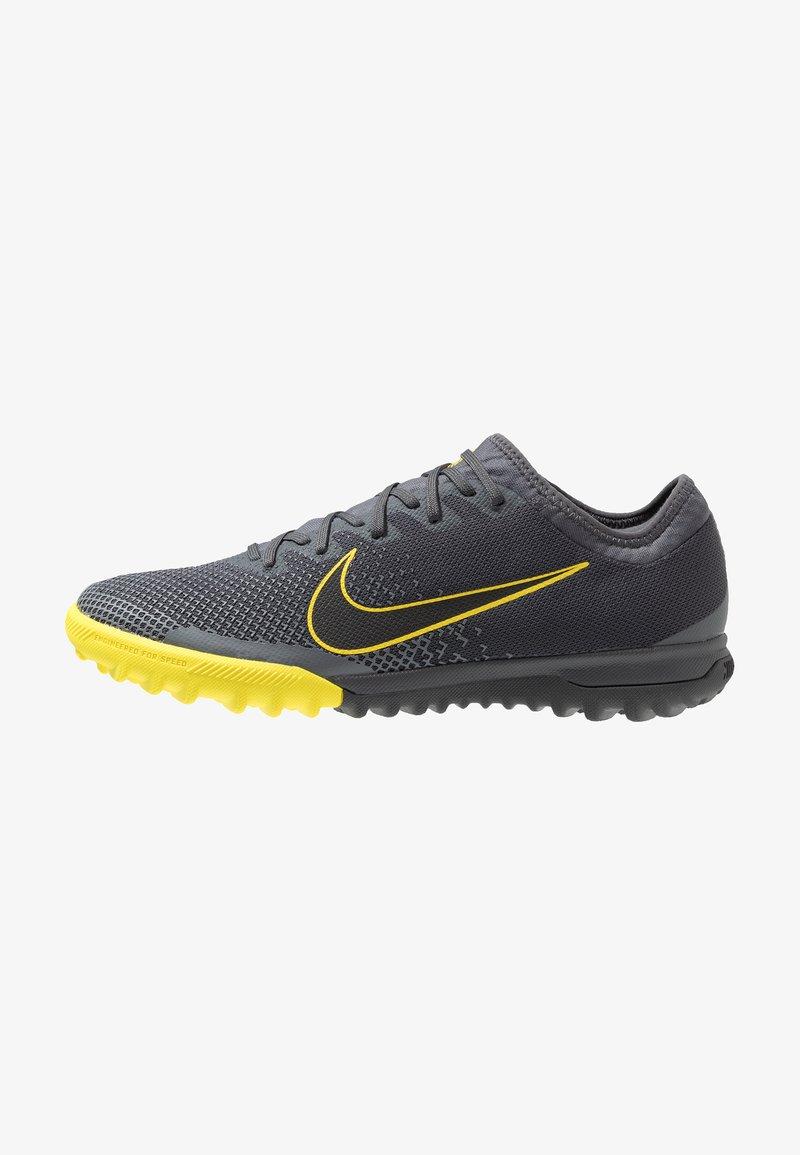 Nike Performance - MERCURIAL VAPORX 12 PRO TF - Astro turf trainers - dark grey/black/opti yellow