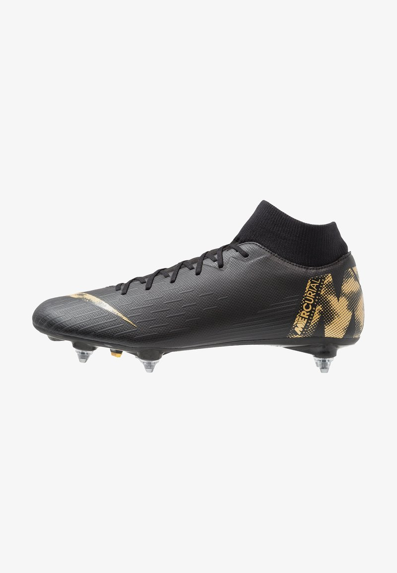 Nike Performance - MERCURIAL 6 ACADEMY SGPRO - Screw-in stud football boots - black/metallic vivid gold