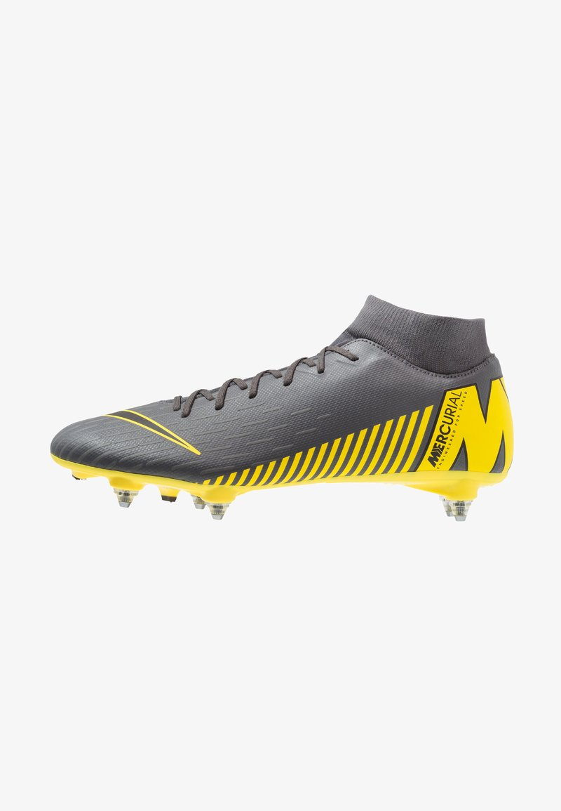 Nike Performance - MERCURIAL 6 ACADEMY SGPRO - Fußballschuh Stollen - dark grey/black/opti yellow
