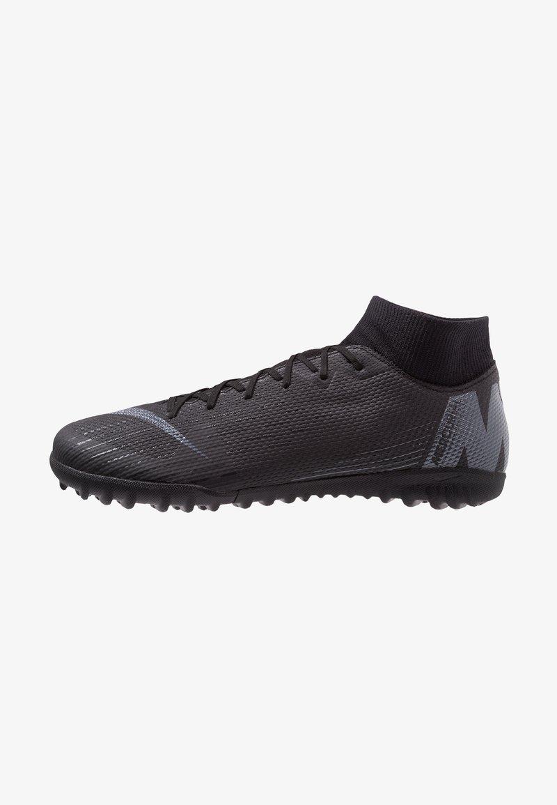 Nike Performance - MERCURIAL SUPERFLYX 6 ACADEMY TF - Botas de fútbol multitacos - black/anthracite/light crimson