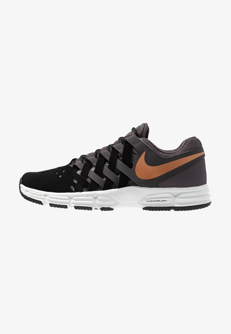 Nike Performance - LUNAR FINGERTRAP TR - Træningssko - thunder grey/metallic copper/black/platinum tint