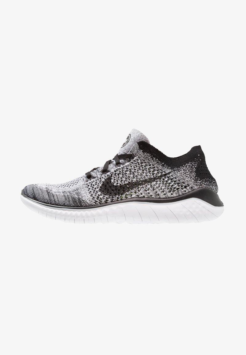Nike Performance - FREE RUN FLYKNIT 2018 - Löparskor - white/black