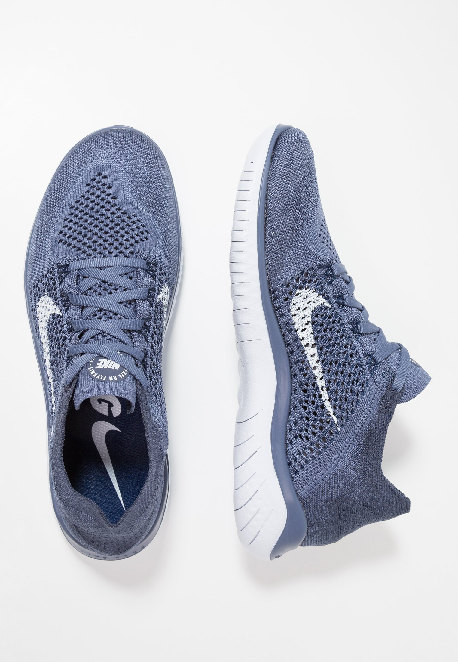 FREE RUN FLYKNIT 2018 Chaussures de course neutres diffused bluethunder blueblue voidfootball grey