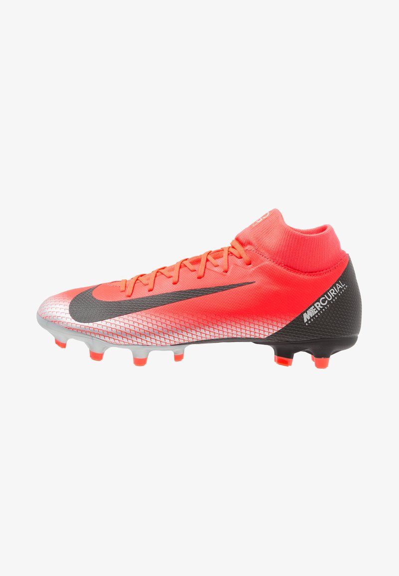 Nike Performance - 6 ACADEMY CR7 MG - Moulded stud football boots - bright crimson/black/chrome/dark grey